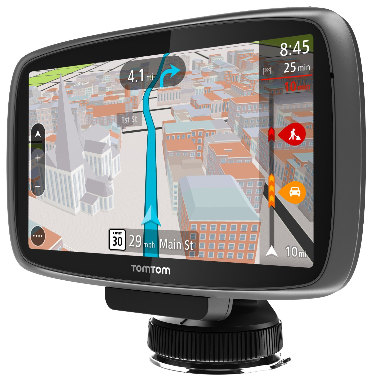 tomtom go 600 review 6 inch screen portable gps for vehicles. Black Bedroom Furniture Sets. Home Design Ideas